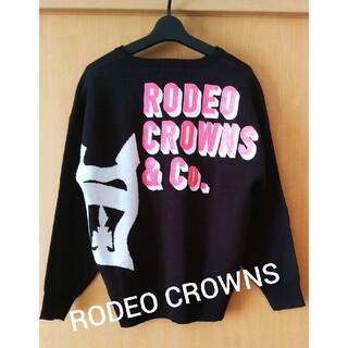 ロデオクラウンズ(RODEO CROWNS)のRODEO CROWNS★ネオンロゴ可愛いゆったりニット(ニット/セーター)