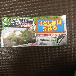 いしかわ動物園 子ども無料招待券 チケット(動物園)