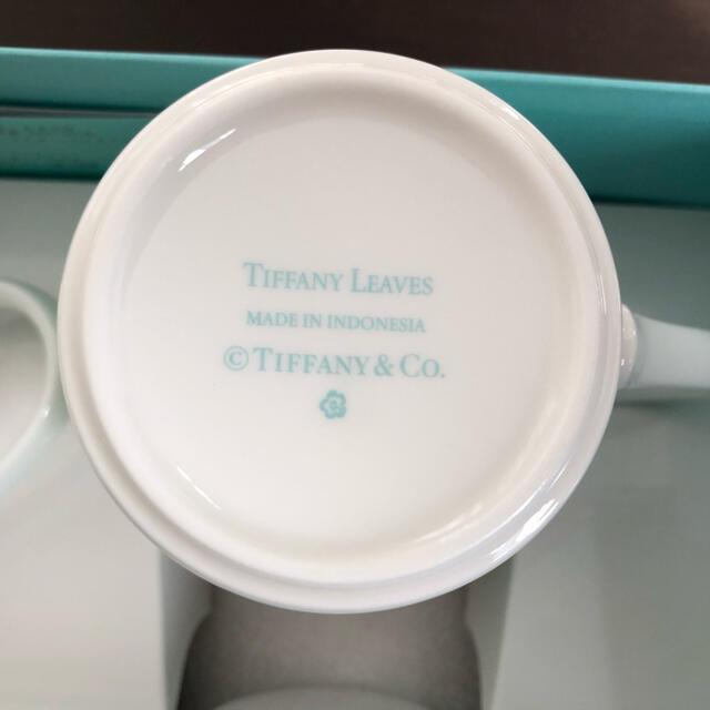 Tiffany & Co.(ティファニー)のティファニー リーフ ペアマグカップ インテリア/住まい/日用品のキッチン/食器(グラス/カップ)の商品写真