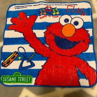 セサミストリート(SESAME STREET)のSESAME STREET ELMO タオルハンカチ3回使用しました(キャラクターグッズ)