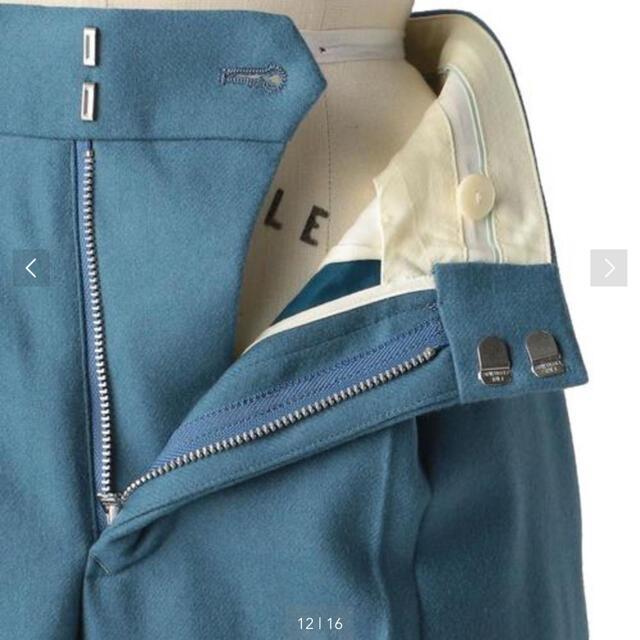 Drawer(ドゥロワー)のDRAWER  ドゥロワー 2020AW ウールフラノ タックパンツ  34 レディースのパンツ(その他)の商品写真