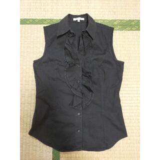 ナラカミーチェ(NARACAMICIE)のナラ カミーチェ、ノースリーブシャツ、黒色(シャツ/ブラウス(半袖/袖なし))