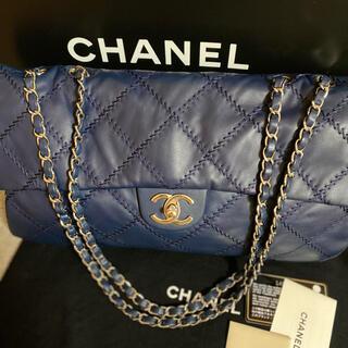 CHANEL - ★美品 シャネル デカマトラッセ ワイルドステッチ Wチェーンショルダーバッグ