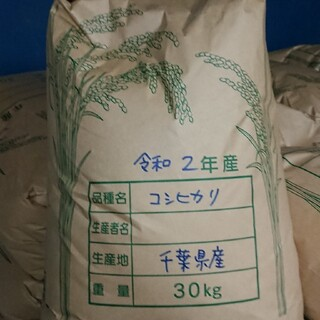 令和2年  千葉県産  コシヒカリ  玄米  30㎏(米/穀物)