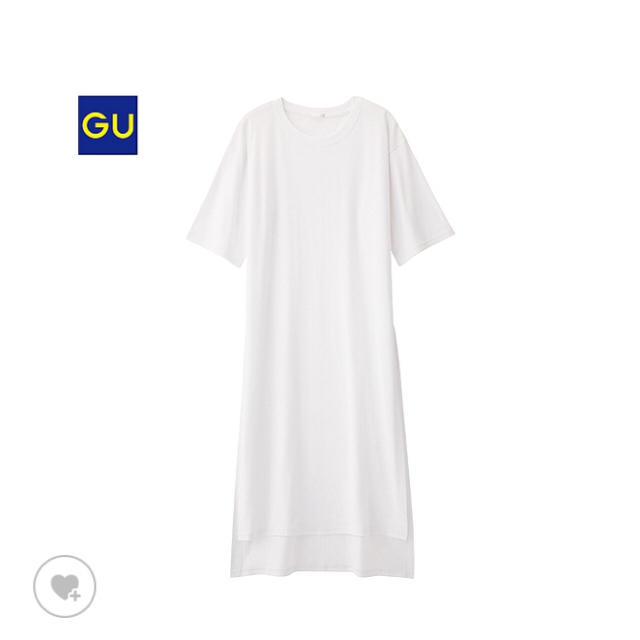 GU(ジーユー)のディープスリットロングT レディースのトップス(シャツ/ブラウス(半袖/袖なし))の商品写真
