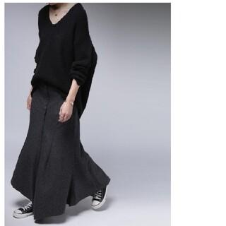 antiqua - アンティカ 起毛ツイード調アシメスカート