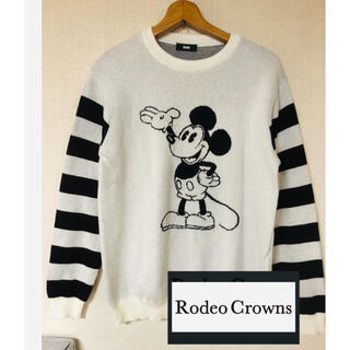 ロデオクラウンズ(RODEO CROWNS)のミッキー ロデオクラウンズ セーター トレーナー  レディース disney(ニット/セーター)