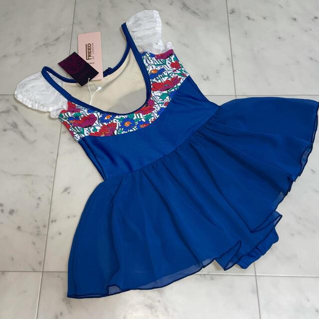 CHACOTT(チャコット)の新品 チャコット FREED スカート付レオタード120 ブルー パフ ① キッズ/ベビー/マタニティのキッズ服女の子用(90cm~)(その他)の商品写真
