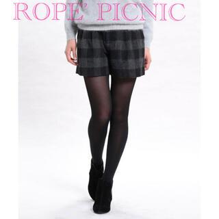 ロペピクニック(Rope' Picnic)の美品*ROPE' PICNIC*チェック ツイード ショートパンツ(ショートパンツ)