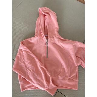 ナチュラルクチュール(natural couture)のピンクのパーカー (パーカー)