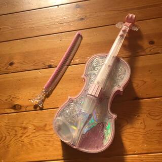 バンダイ(BANDAI)のディズニー ライト&オーケストラ バイオリン ピンク(楽器のおもちゃ)