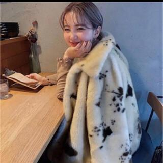 スタイルナンダ(STYLENANDA)の♡人気アウター♡cow柄ふわふわファーコート(毛皮/ファーコート)