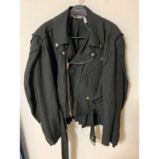 SUNSEA - midorikawa linen riders jacket