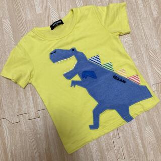 kladskap - クレードスコープ  Tシャツ 半袖 恐竜 イエロー 100
