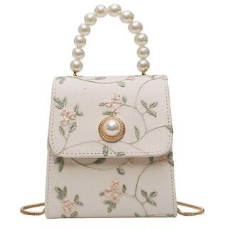 Lily Brown - パールと花柄刺繍のお嬢様バッグ【1675】