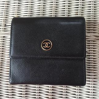 シャネル(CHANEL)のCHANEL  折財布  ブラック(財布)