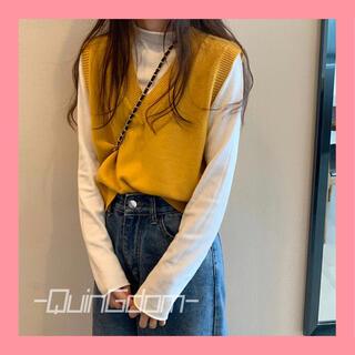 heather - 【即発送可】スタイリッシュ♪Vネックニット トップス レディース韓国ファッション