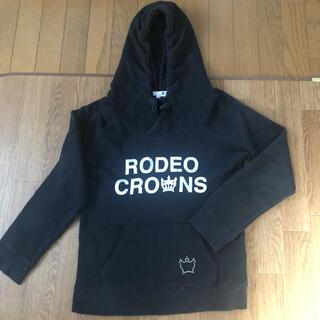 ロデオクラウンズ(RODEO CROWNS)のロデオクラウンズ黒パーカー(パーカー)