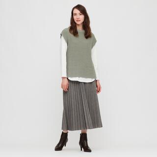 ユニクロ(UNIQLO)のコットンロングシャツテールTシャツ(Tシャツ(長袖/七分))