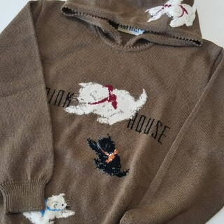PINK HOUSE - ピンクハウス フード付きセーター