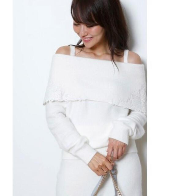 Rirandture(リランドチュール)のRirandture 刺繍入りオフショルニットセットアップ レディースのトップス(ニット/セーター)の商品写真