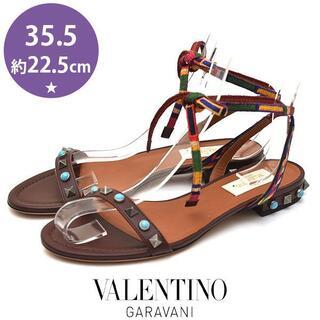 VALENTINO - ほぼ新品❤️ヴァレンティノ スタッズ サンダル 35.5(約22.5cm)