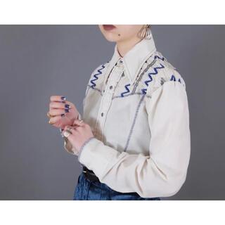 サンタモニカ(Santa Monica)の70s wrangler embroidery ウエスタンシャツ S(シャツ/ブラウス(長袖/七分))