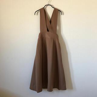 ViS - vis ジャンパースカート 茶色