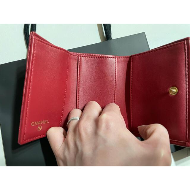 CHANEL(シャネル)のCHANEL ミニウォレット 三つ折 ボーイシャネル レディースのファッション小物(財布)の商品写真