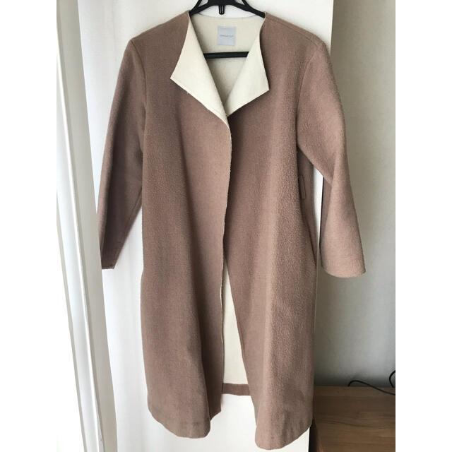 OPAQUE.CLIP(オペークドットクリップ)のノーカラーコート ロングコート オペークドットクリップ レディースのジャケット/アウター(ロングコート)の商品写真