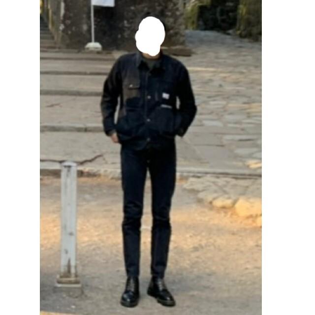 SUNSEA(サンシー)のdairiku 18ss デニムカバーオール ブラック メンズのジャケット/アウター(Gジャン/デニムジャケット)の商品写真