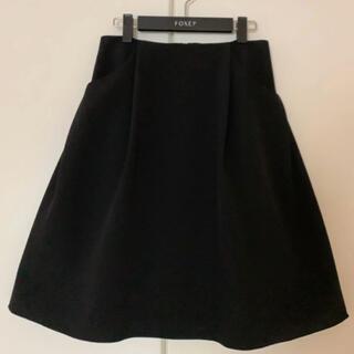 FOXEY - ♡美品♡ FOXEY 40 イリプスフレアー スカート ブラック Rene