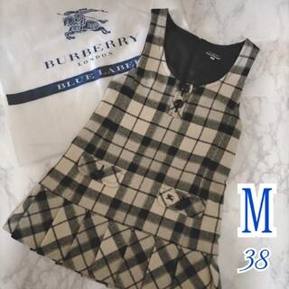 BURBERRY BLUE LABEL - バーバリーブルーレーベル ジャンパースカート Mサイズ ワンピース チェック