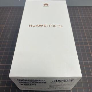 ファーウェイ(HUAWEI)のHUAWEI P30 lite SIMフリー ブラック 新品未開封(スマートフォン本体)