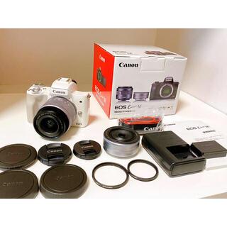 Canon - キャノン  EOS Kiss M ダブルレンズキット