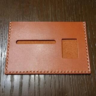 トチギレザー(栃木レザー)の栃木レザー 薄型免許証ケース(オレンジ)(その他)