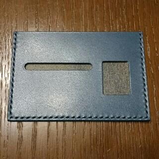 トチギレザー(栃木レザー)の栃木レザー 薄型免許証ケース(ネイビー)(その他)