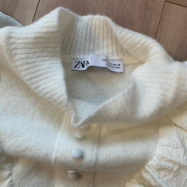 ZARA(ザラ)のザラ ZARA 今季新作 人気完売フリル ニット セーター Sサイズ レディースのトップス(ニット/セーター)の商品写真