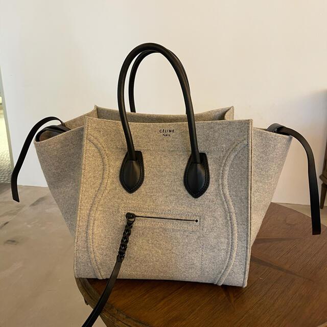 celine(セリーヌ)のランゲージ ファントム グレー フェルト レディースのバッグ(トートバッグ)の商品写真