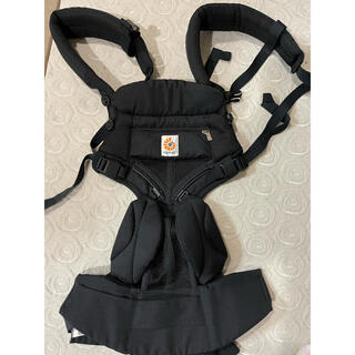 エルゴベビー(Ergobaby)のエルゴ オムニ360 クールエアー 美品 ブラック 日本正規品(抱っこひも/おんぶひも)