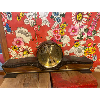 セイコー(SEIKO)のseiko手巻き置き時計茶色(置時計)