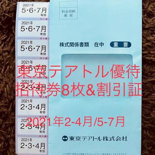 ⭐︎最新⭐︎東京テアトル株主優待8枚&提示割引証(その他)