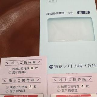 東京テアトル 株主優待券 映画ご招待券20枚(その他)