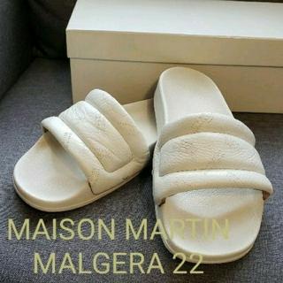 Maison Martin Margiela - MAISON MARTIN MALGERA22ロゴディティールサンダル