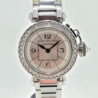 Cartier - 本物カルティエ ミスパシャ 天然ダイヤモンドベゼル レディース腕時計