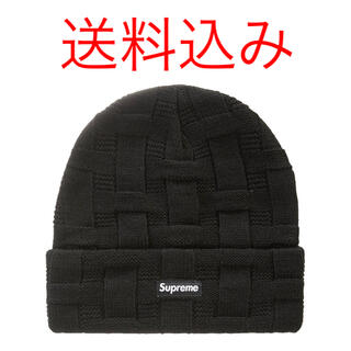 Supreme - Supreme Basket Weave Beanie Black ビーニー 黒