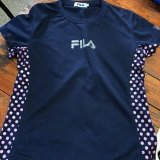 フィラ(FILA)の【FILA フィラ】レディース半袖Tシャツ/Lサイズ/ネイビー(その他)