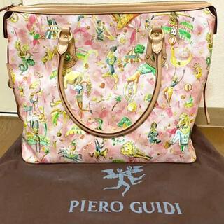 イアパピヨネ(ear PAPILLONNER)の【レア】正規品Piero Guidiイタリア製ショルダーピンク保存袋付き(ショルダーバッグ)