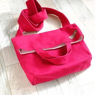 赤帆布二つ折りミニショルダー(バッグ)