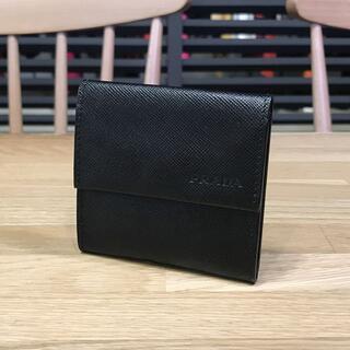 PRADA - 良品 プラダ コインケース 小銭入れ サフィアーノ ユニセックス 黒